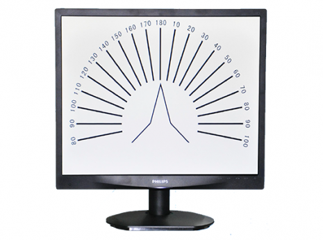 מסך לבדיקת ראייה philips