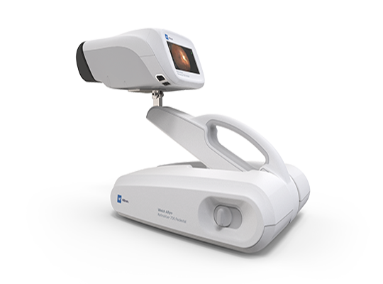 handheld RetinaVue 700 Imager into a tabletop format with ease using the RetinaVue 700 Pedestal.