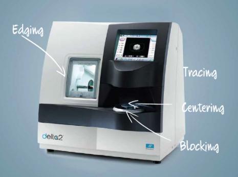 מכונת חיתוך עדשות אסילור delta 2
