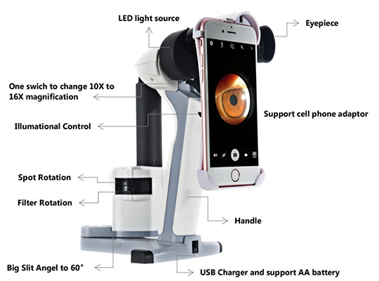 סליט למפ ידני עם אפשרות לצילום דרך הסמארטפון