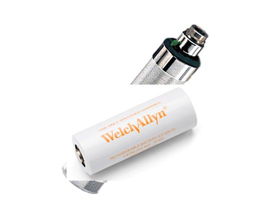 ידית V3.5 כרום נטענת עם סוללה Welch Allyn